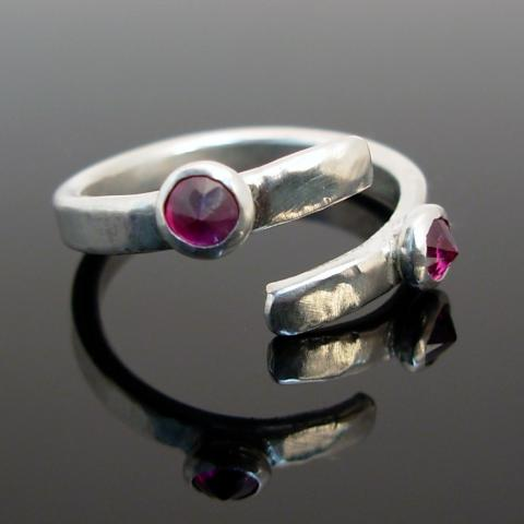 double trouble! Rubies on sterling