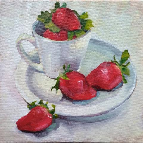 Strawberries and Cup
