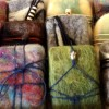 Felted organic soap
