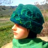 Nuno felted Merino wool and silk hat