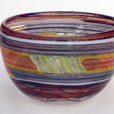Patchwork mosaic bowl