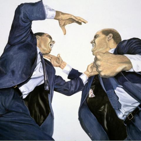 Conflict - oil/canvas, 44x60