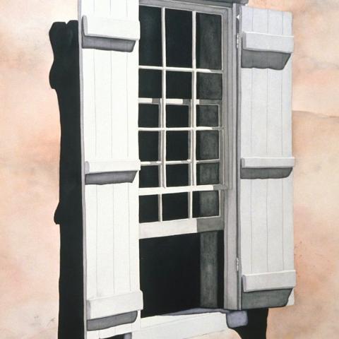 Santa Fe Window - watercolor/paper, 27x36