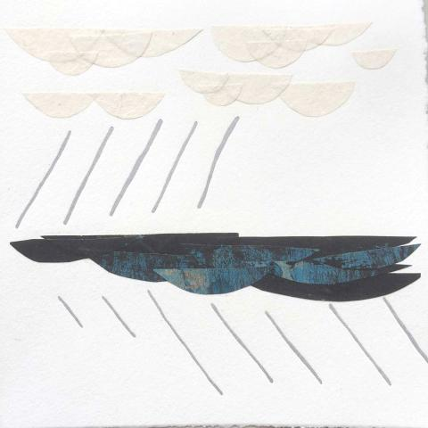 Weather, letterpress/collage, 6