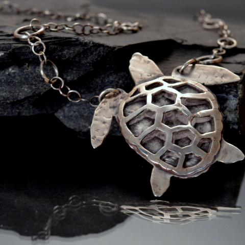 Finished Sea Turtle from the Metal Menagerie Series