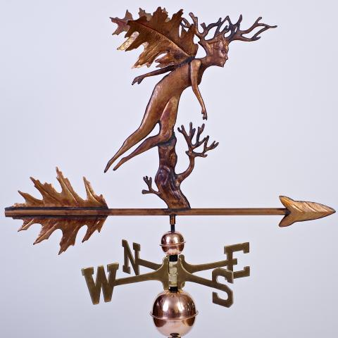 Oak forest Fae weathervane