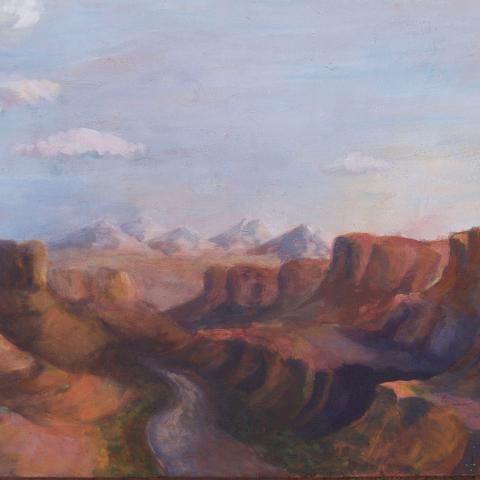 The Green River, Utah. Acrylic on Canvas. 2ft x4ft