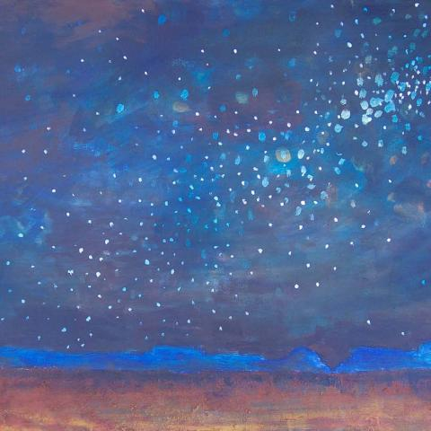 Night Sky. Acrylic on Canvas. 2ft x 4ft