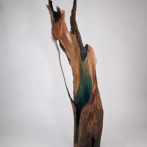 Somatic Resolution, reclaimed wood, 74x22x15