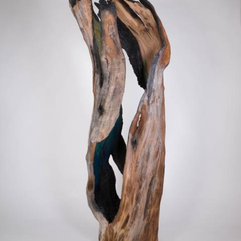 Echo of the Ancient, reclaimed wood, 70x26x22