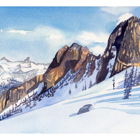 Liberty Bell Ski Tour