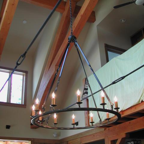 4 Ft Diam. Ring Chandelier