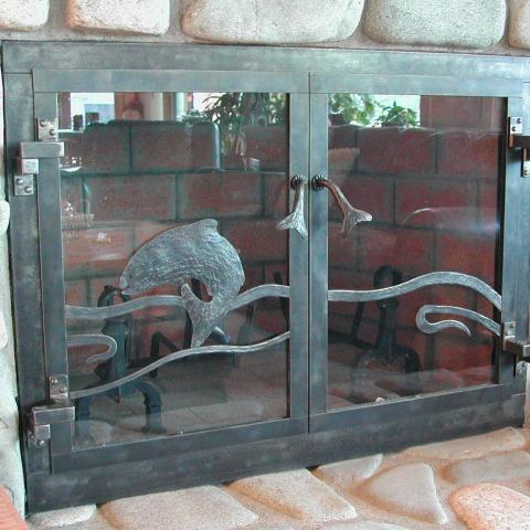Trout Fire Place Doors