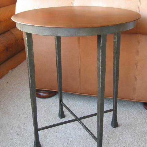 Forged Base, Rust Patina Table