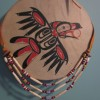 Raven Drum and Bone Bead Necklace