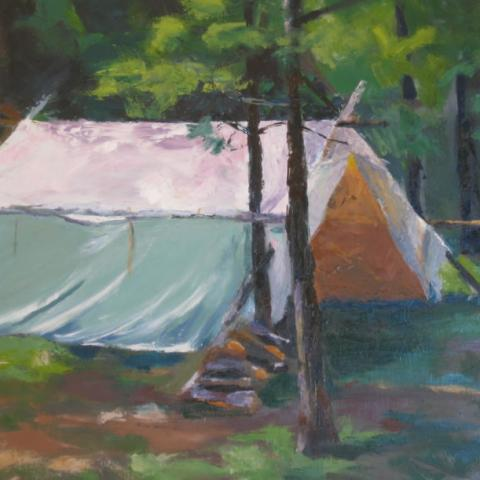Base Camp (Oil/Palette knife)
