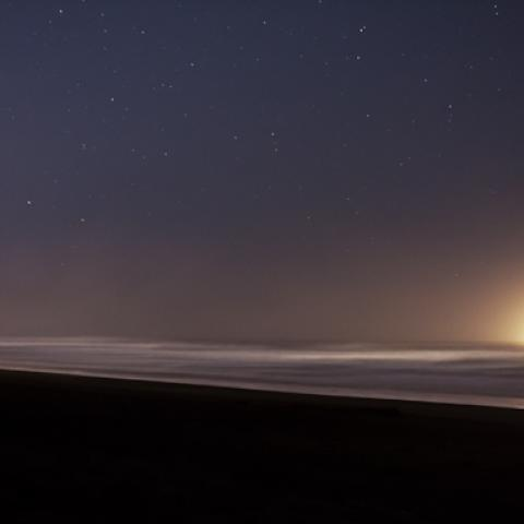 light pollution #1, pacific ocean