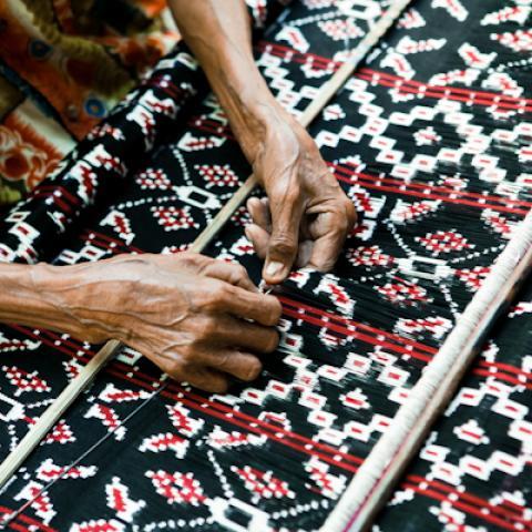 ikat weaving, Roti, Indonesia
