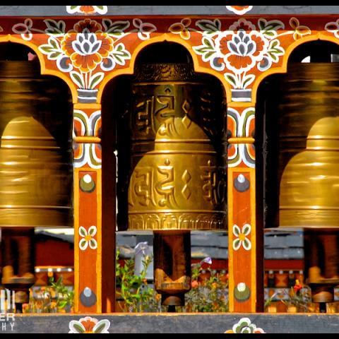 Prayer Wheels - Thimpu, Bhutan