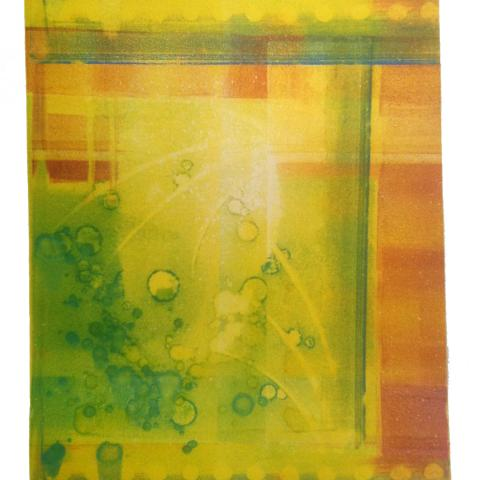 Untitled; Monoprint roll-off