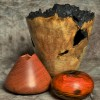 Hollow forms. Maple burl, narra, cocobolo.