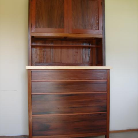 redwood cabinet