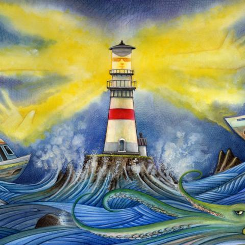 Sea Star Wishes: Lighthouse, Bright House