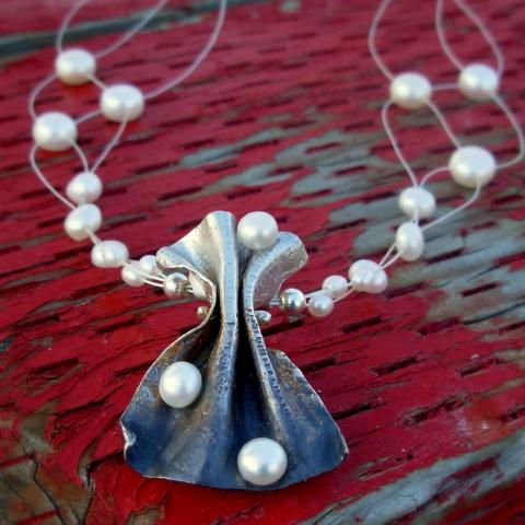 sterling and pearls