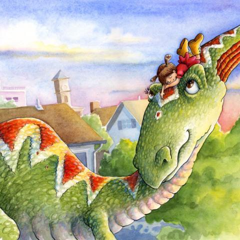 Boo's Dinosaur: Cover Art