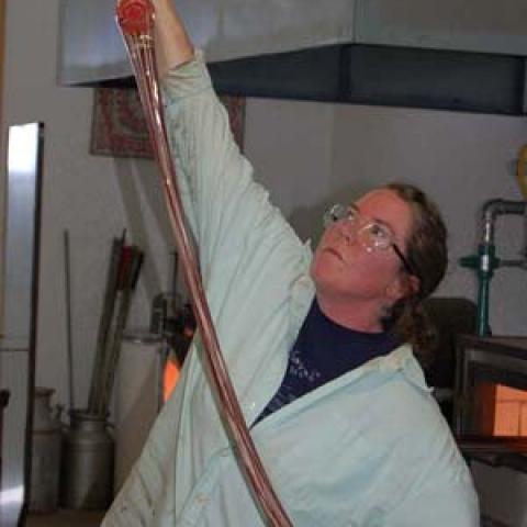 Pulling glass cane